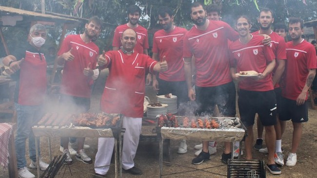 Samsunspor Basketbola Barbekü Partisi!